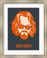 Framed Dude Abides Orange
