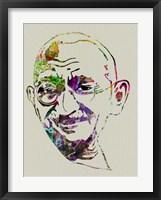 Framed Gandhi Watercolor
