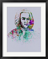 Framed Bach Watercolor