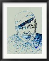 Framed Hemingway Watercolor 1