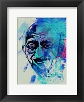 Framed Gandhi Watercolor 1