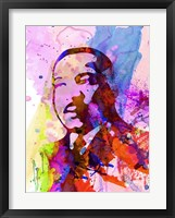 Framed Martin Luther King Watercolor
