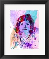 Framed Jackie Kennedy Watercolor