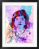 Framed Jackie Kennedy Watercolor