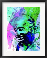 Framed Gandhi Watercolor 2