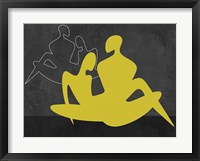 Framed Yellow Couple
