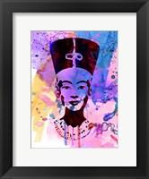 Framed Nefertiti Watercolor