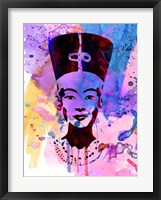 Framed Nefertiti Watercolor