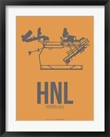 Framed HNL Honolulu Airport 2
