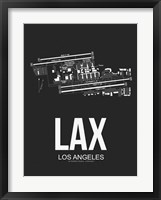 Framed LAX Los Angeles Airport Black