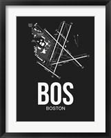 Framed BOS Boston Airport Black