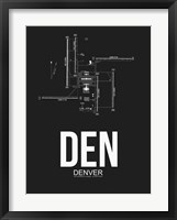 Framed DEN Denver Airport Black