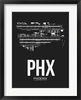 Framed PHX Phoenix Airport Black