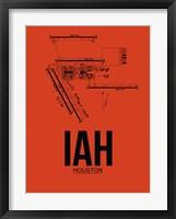 Framed IAH Houston Airport Orange