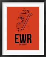 Framed EWR Newark Airport Orange