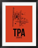 Framed TPA Tampa Airport Orange