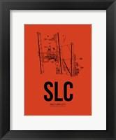 Framed Salt Lake City Airport Orange