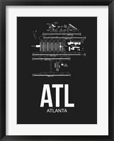 Framed ATL Atlanta Airport Black