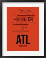 Framed ATL Atlanta Airport Orange