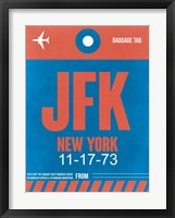 Framed JFK New York Luggage Tag 1