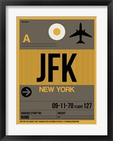 Framed JFK New York Luggage Tag 3