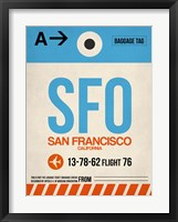 Framed SFO San Francisco Luggage Tag 1