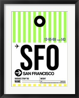 Framed SFO San Francisco Luggage Tag 3