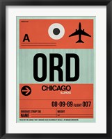 Framed ORD Chicago Luggage Tag 2