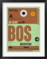Framed BOS Boston Luggage Tag 1