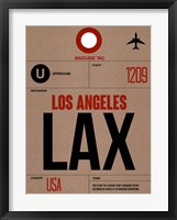 Framed LAX Los Angeles Luggage Tag 1