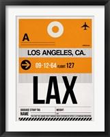 Framed LAX Los Angeles Luggage Tag 2