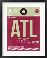 Framed ATL Atlanta Luggage Tag 2