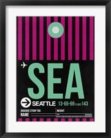 Framed SEA Seattle Luggage Tag 2