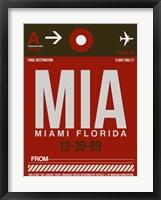 Framed MIA Miami Luggage Tag 2