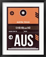 Framed AUS Austin Luggage Tag 2
