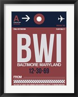 Framed BWI Baltimore Luggage Tag 2
