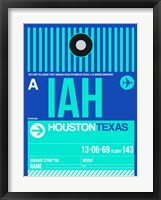 Framed IAH Houston Luggage Tag 2