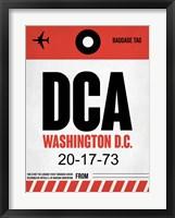 Framed DCA Washington Luggage Tag 1