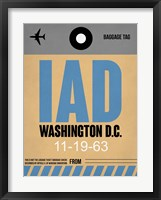 Framed IAD Washington Luggage Tag 1