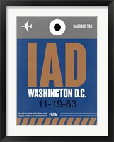 Framed IAD Washington Luggage Tag 2
