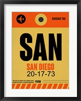 Framed SAN San Diego Luggage Tag 1