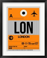 Framed LON London Luggage Tag 1