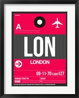 Framed LON London Luggage Tag 2