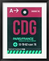 Framed CDG Paris Luggage Tag 1