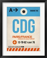 Framed CDG Paris Luggage Tag 2