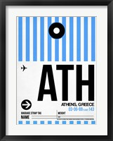 Framed ATH Athens Luggage Tag 1