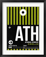 Framed ATH Athens Luggage Tag 2