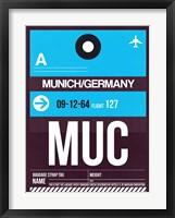 Framed MUC Munich Luggage Tag 1