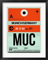 Framed MUC Munich Luggage Tag 2