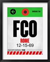 Framed FCO Rome Luggage Tag 1
